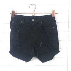 NEW LF X Carmar Distressed Cut Off Jean Shorts